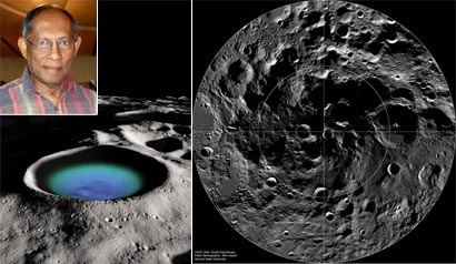 WATER AND LIFE IN THE MOON CRATER - CHANDRA WICKRAMASINGHE
