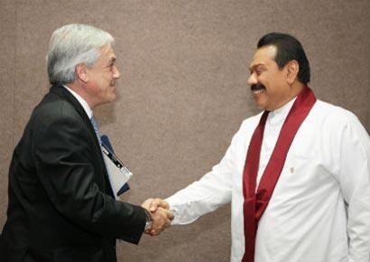 President of Chile Sebastian Pinera Met President of Sri Lanka