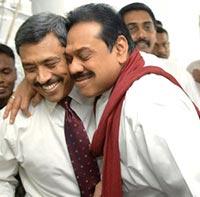 President Rajapaksa with Mr. Gotabhaya Rajapaksa