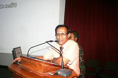 Senior Lecturer of the University of Colombo Prof.W.P. Gamini De Silva