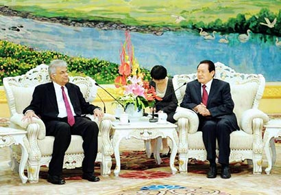 Ranil Wickramasinghe in China