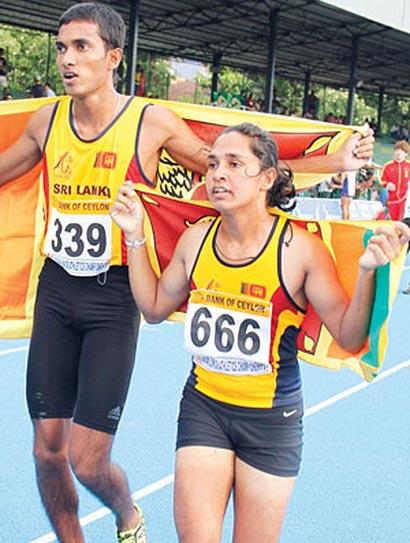 Shivanthi and Madusanka 400m