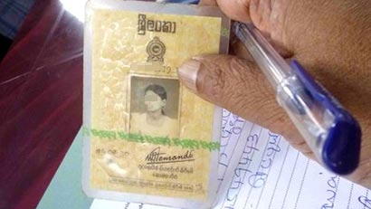 National Identity Card of Sri Lanka