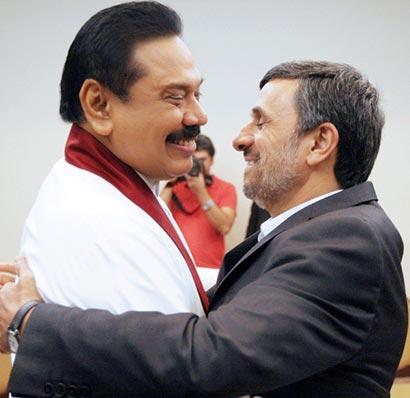 Sri Lanka President with Iran President