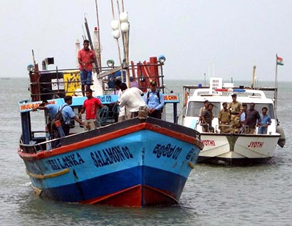 Sri Lankan fishing boat in custody