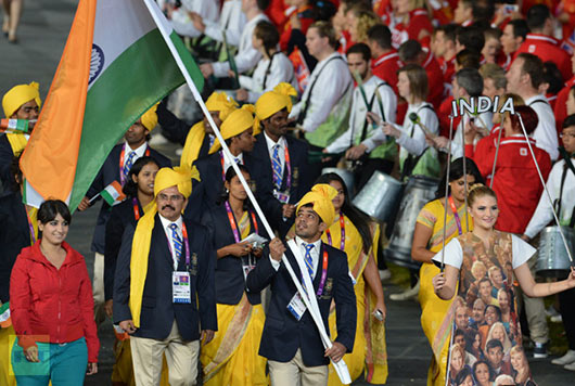 Gate crashing girl steals spotlight from athletes of india olympics team