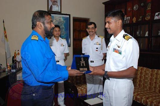 """Indian Naval Ship """"Chetlat"""" arrives at the Port of Trincomalee"""