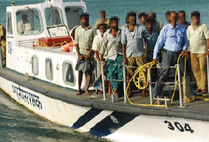 Indian fishermen arrested