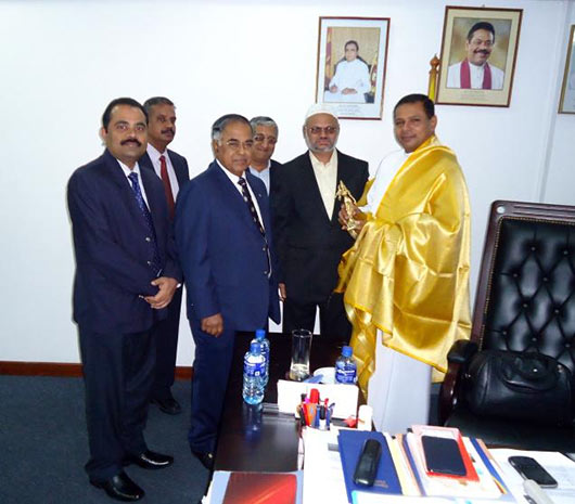 Travel club officials in Minister Priyankara Jayaratnes office