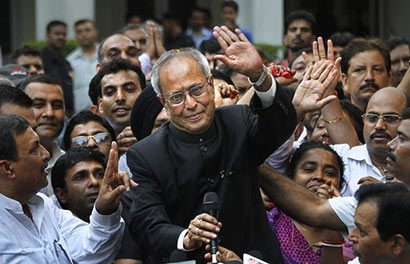 Pranab elected President of India