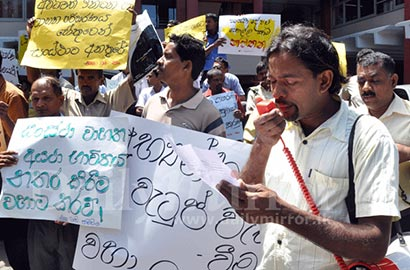 Protest against Wimal Weerawansa