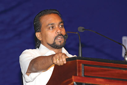 Wimal Weerawansa speaking