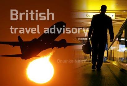 British travel advisory
