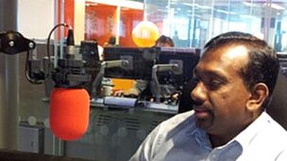 Minister Mahindananda Alutgamage with BBC