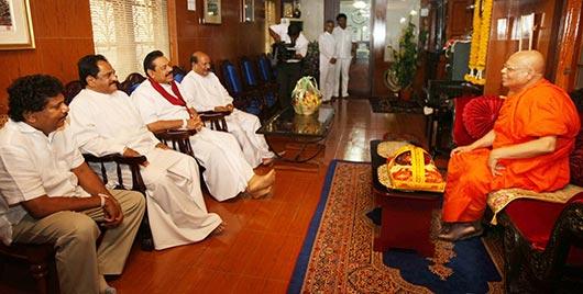 President Mahinda Rajapaksa on Dambulla development project