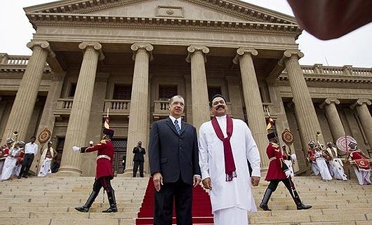President of Seychelles James Alix Miche with Sri Lanka President Mahinda Rajapaksa