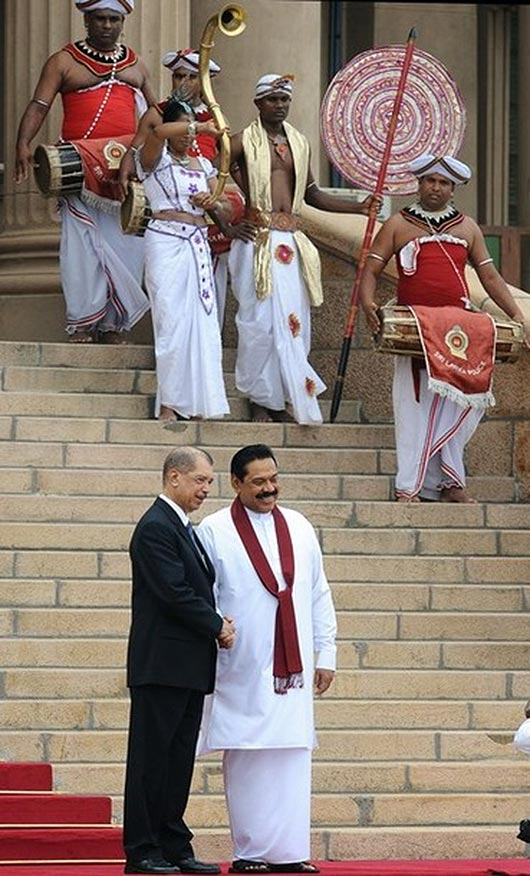President of Seychelles James Alix Miche with Sri Lanka President Mahinda Rajapaksa