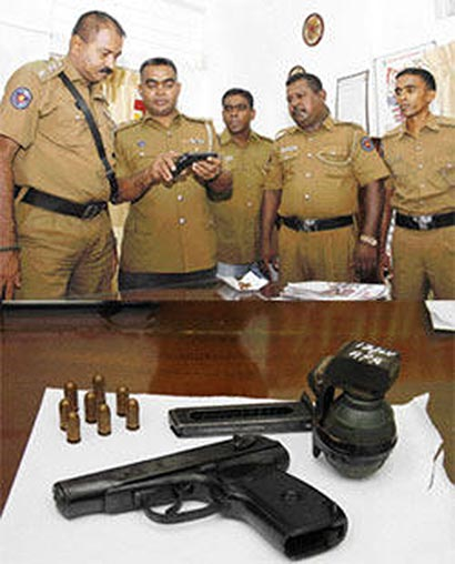 Sri Lanka police on museum thief