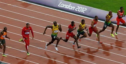 Usain Bolt wins Olympic 100m gold at London 2012 ...