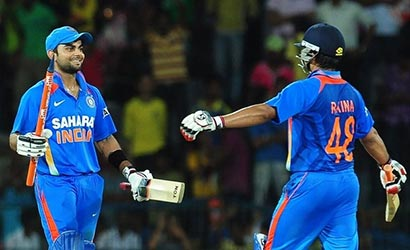Virat Kohli and Suresh Raina beat Sri Lanka Cricket