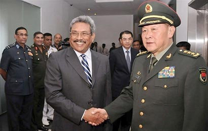 Chinese Defence Minister with Sri Lanka Defence  Secretary Mr. Gotabhaya Rajapaksa