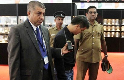 swallowing a diamond worth nearly $13,600 at a gem exhibition in Sri Lanka