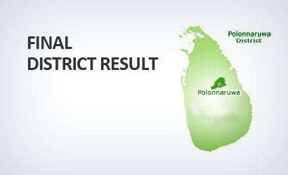 Final Distric Result Polonnaruwa