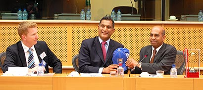 ICC Cricket promotion at the European Parliament