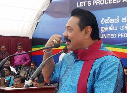 President Mahinda Rajapaksa at Dehiattakandiya