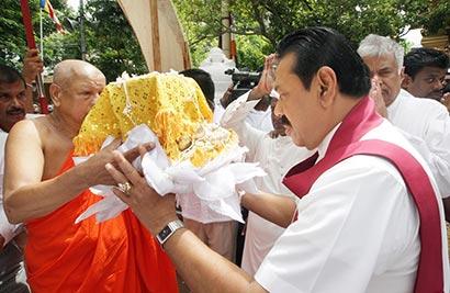 Sacred Kapilavasthu Relics at Gangarama temple