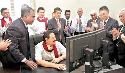 President Rajapaksa at Kilinochchi