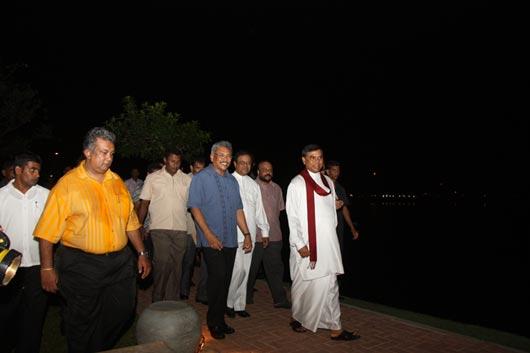"President on inspection of ""Diyatha Uyana""- Battaramulla"