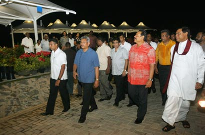 "President on inspection of ""Diyatha Uyana""- Battaramulla"