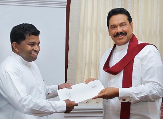 Sivanesathurai Chandrakanthan as a Presidential Advisor