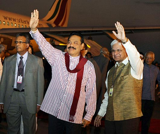 President Rajapaksa receives warm welcome in India