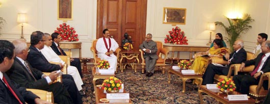 President Rajapaksa meets Indian President