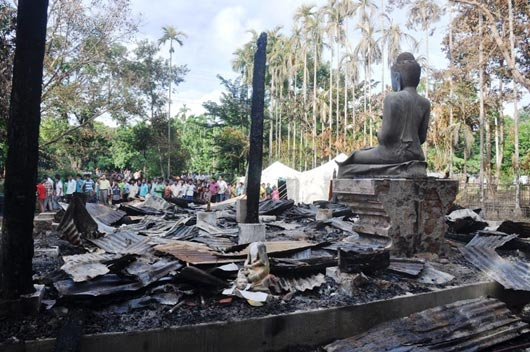 Aarson attacks on Buddhist temples and villagers in Bangladesh