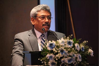 Defence and Urban Development Ministry Secretary Gotabaya Rajapaksa
