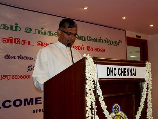 The Deputy High Commissioner Amb. Rajakaruna Addresses the Gathering