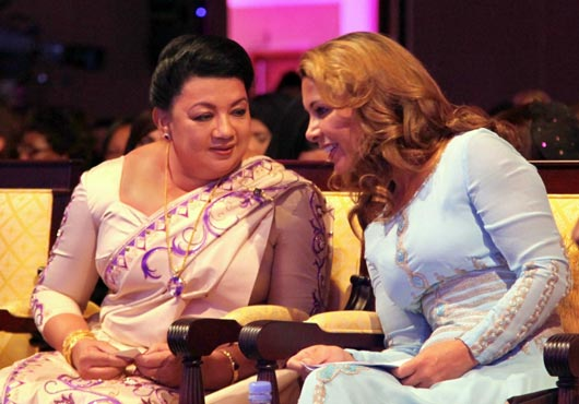 Sri Lanka's First Lady at WEF in Dubai