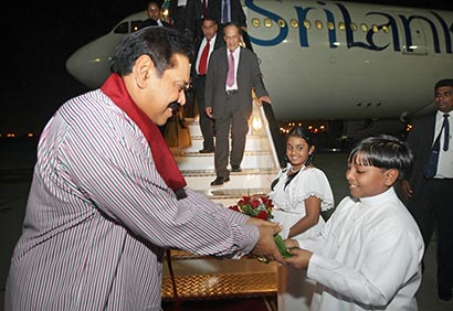 President Rajapaksa visits Dubai to participate World Energy Forum