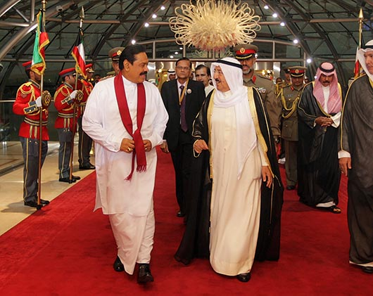 President Rajapaksa arrives in Kuwait to attend ACD Summit