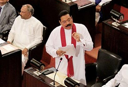 Sri Lanka President in Parliament