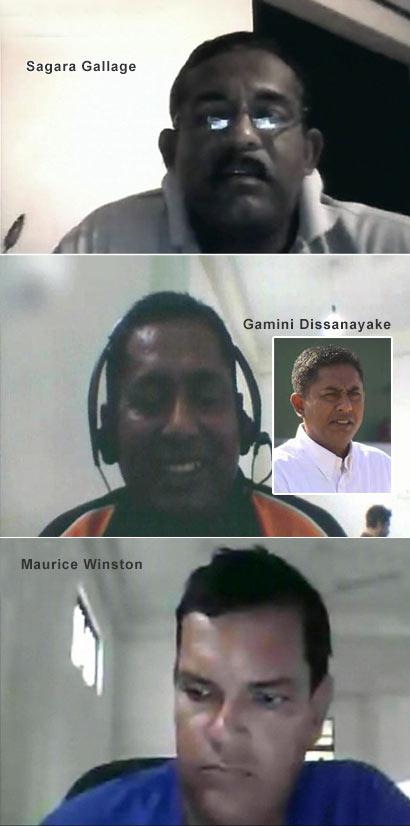 Sagara Gallage, Gamini Dissanayake and Maurice Winston - Cricket Umpires - Match Fixing