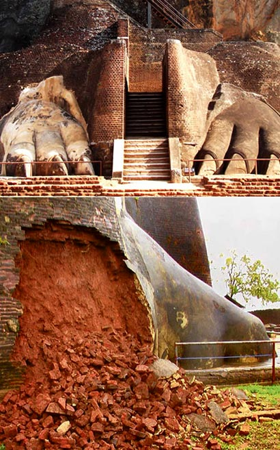 Sigiriya - Lightening Damages