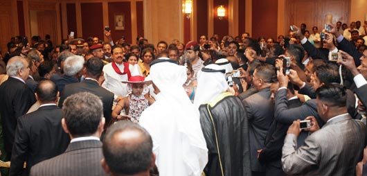 Sri Lankans in Kuwait meet the President