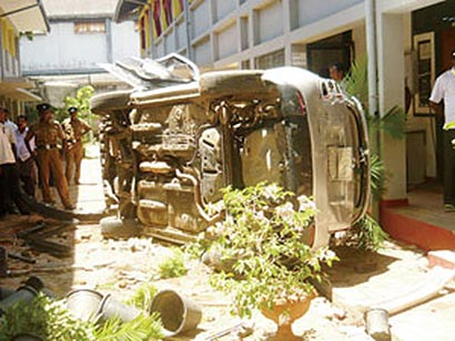 Vidyaloka Vidyalaya Galle - Attack