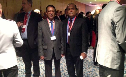 Major General Hathurusinghe and Ambassador Kongahage at the 2nd International Symposium on CBRN