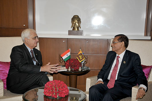 Minister Peiris meets the new External Affairs Minister of India