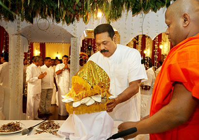 President Mahinda Rajapaksa celebrates his 67th Birthday